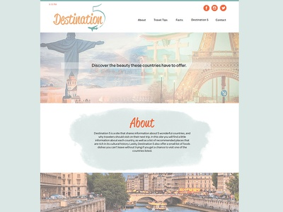 Destination5 Website web mockup layout layout design website design web design