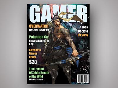 Gamer Magazine Cover editorial design editorial magazine design magazine cover