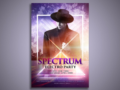 Spectrum Electro Party advertisement advertisement design photo manipulation photo editing typography poster typography poster poster design