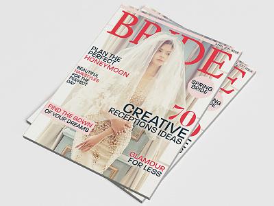 Bride Magazine Cover typography editorial design editorial magazine design magazine cover