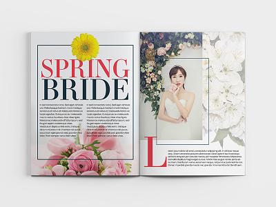 Bride Magazine Spread #1 typography editorial design editorial magazine design magazine cover