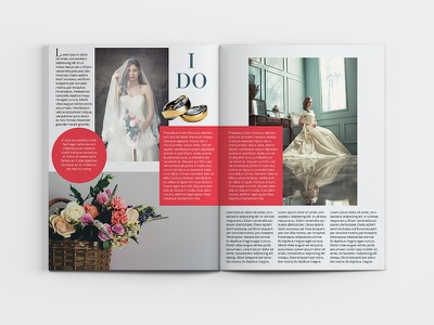 Bride Magazine Spread #2 typography editorial design editorial magazine design magazine cover