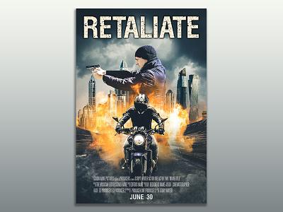 Retaliate  movie poster advertisement advertisement design photo manipulation photo editing typography poster typography poster poster design