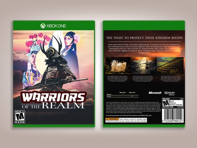 WARRIORS OF THE REALM visual effects cover design game design photo manipulation photomanipulation digital design digital art game cover design game cover