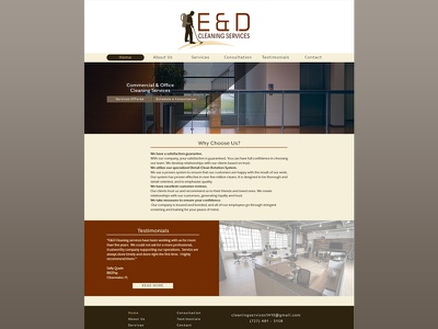E&D Services Website web mockup layout layout design website design web design