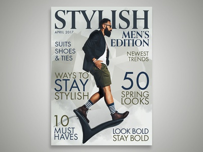 Stylish Magazine Cover layout design magazine layout typography editorial design editorial magazine design magazine cover