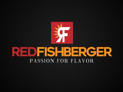 Red Fishberger Logo logo design typography logo
