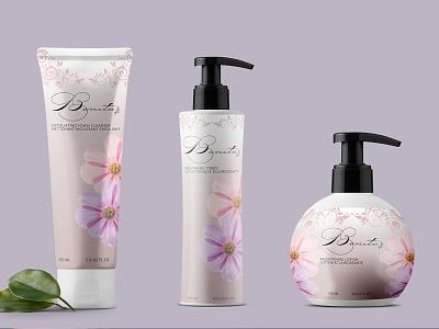 Bonita Cosmetic Packaging label desing print print design digital design digital art typography packaging packaging design