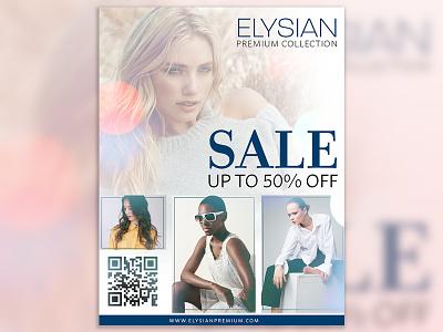 Elysian Flyer advertisement flyer advertisement design flyer design fashion flyer fashion
