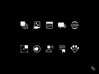 Icon Set web app ui creative icon icons mark design symbol minimal
