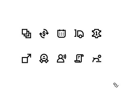 BM Icon set returns size calendar concierge guarantee shipping quality pet leather fabrics icon icons ui symbol
