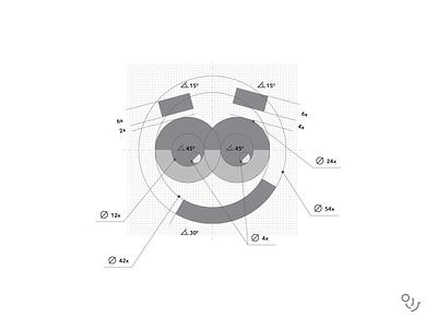 SYNDICATE happy hour face face illustration logo mark symbol design brand and identity brand identity logotype logos stoned eyes face logo happy face logo logo branding design creative mark symbol minimal