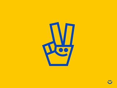 ✌️🐇 rabbit logo victory hand logo victory hand happy logo smile logo hand logo mark illustration icons creative symbol logo minimal