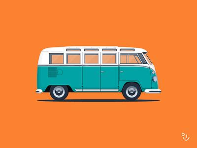 vw 21 car dream 21 travel volkswagen illustration