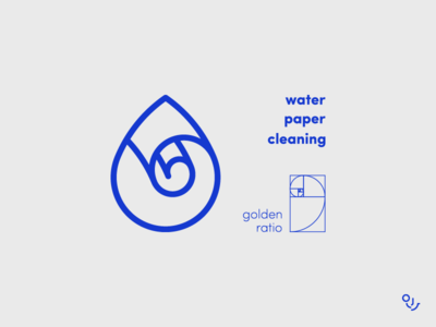 Cleaning Brand water cleaning paper drop monogram logo design creative icon mark icons symbol minimal