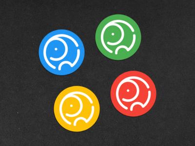 elephant badge design badge logo sticker print branding vector icon design creative mark symbol logo minimal