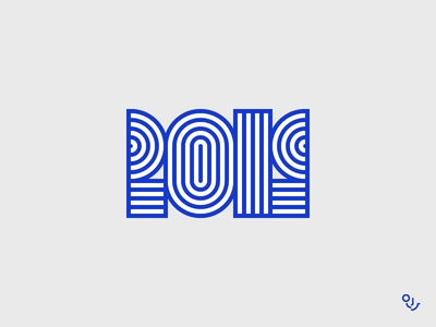 2019 2019logo 2019 vector digital monogram font icon design creative mark typography icons type symbol logo minimal