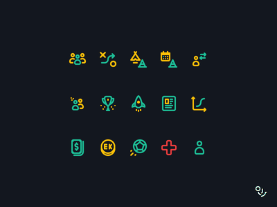EK Icon Set product mobile app illustration minimal ui vector icon creative mark design icons symbol