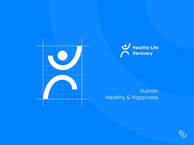 HLR branding type icon mark creative design icons logo symbol minimal