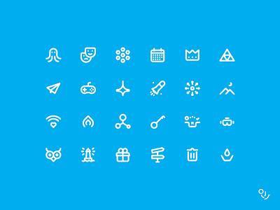 Line, Stroke Service Icon Set Design design ui icon