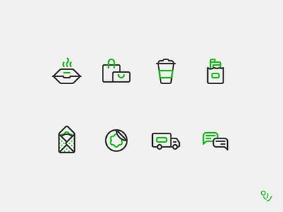 Line Service Icon Set Design packaging app icon symbol ui design mark icons