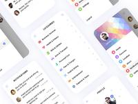Categories, Sidebar, Profile & Notifications
