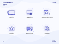Electronics Store Icon Set