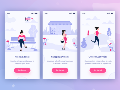 Ecommerce Illustrations shopping theme design beautiful colors illustrator ecommerce ios app