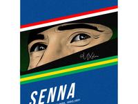Ayrton Senna ux vector branding illustration dribbble design concept