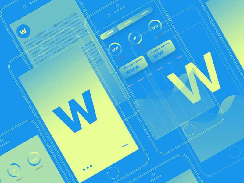 Typehue Week 23: W interface graphic typelove w letter ios ui typehue