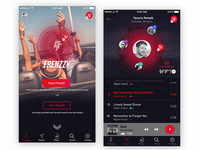 Frenzzy: Music Player UI