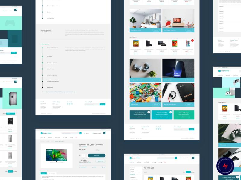 Credit Store - 3 design website web design ux ui