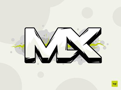 DESIGN TO THE MX logitech logi typography vector illustration