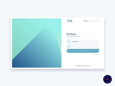 Fake Site - 2 design website web design ui