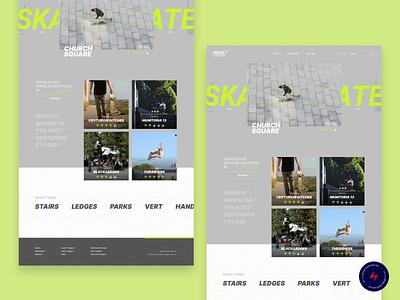 Skate Locate - 3 design website web design ux ui