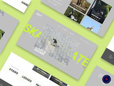 Skate Locate - 2 design website web design ux ui