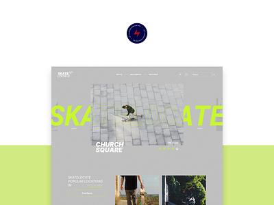 Skate Locate - 1 design website web design ux ui