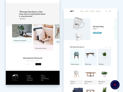 Fake Shop - 3 design website web design ux ui