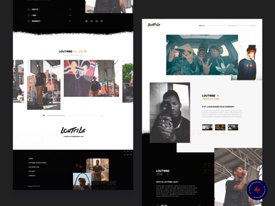 LouTribe - 3 design website web design ux ui