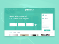Deskup Website Design