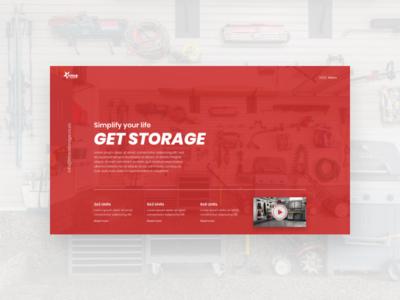 Titan Storage website ux web design ui