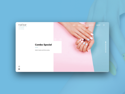 Nailbar  Website Design beauty nails ui ux website