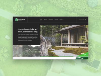 Landscaping Web Template landscape design ui ux website web design