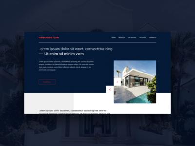 Construction Company Web Template construction ui ux website web design