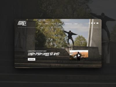 Feeble Skateboarding E-commerce skate shop skate ecommerce ux ui website web design
