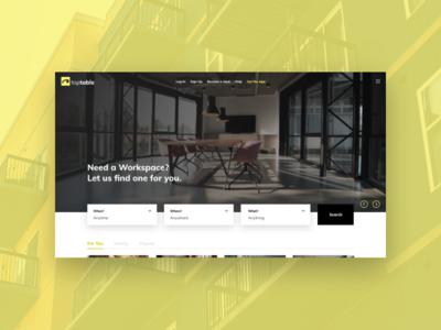 Deskup Re-brand + Redesign Concept office space office app design website ui ux web design