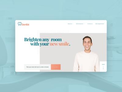 Dentist Website Template smile health care dentist website web design ux ui
