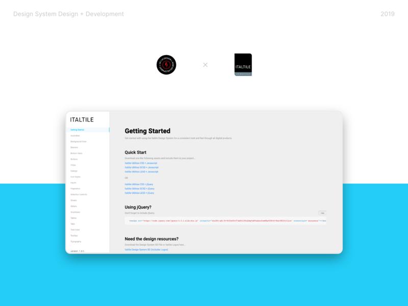 Italtile Dribbble Design System design system design ui