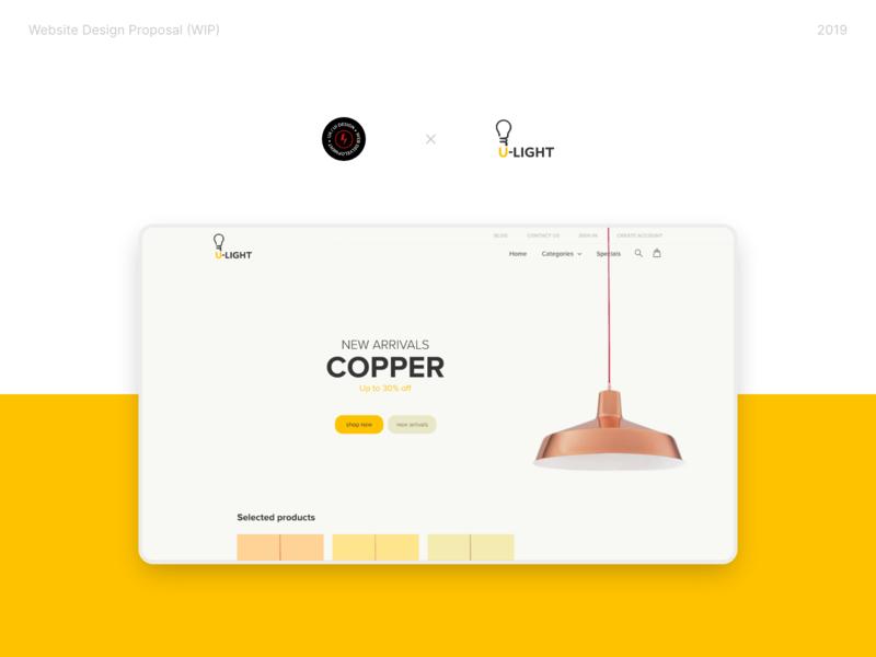 Ulight Website ecommerce ui ux web design