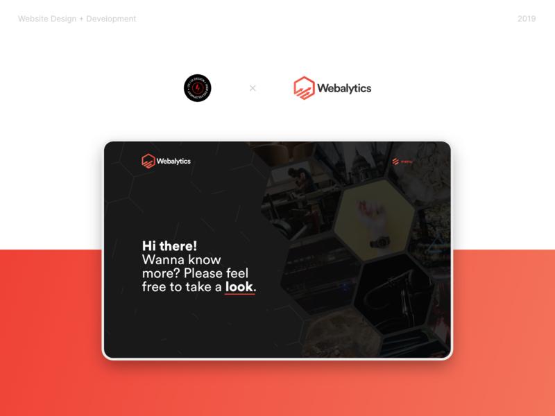 Webalytics Website design website web design ui ux